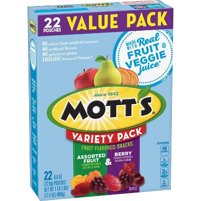 Mott's Assorted Fruit and Berry Variety Pack - 22ct