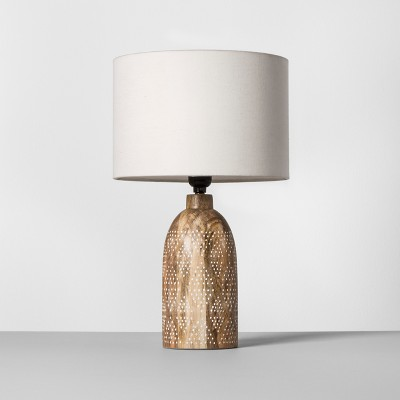 Carved Wood Dots Accent Lamp White - Opalhouse™