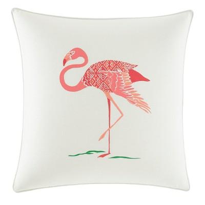 Red Flamingo Throw Pillow - Nine Palms