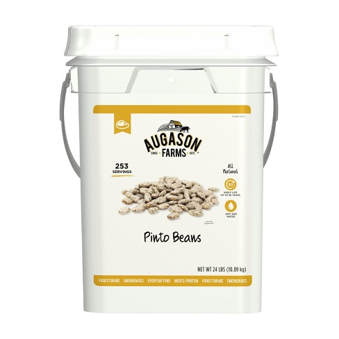 Augason Farms Pinto Beans Emergency Bulk Food Storage 4-Gallon Pail 253 Servings - image 1 of 7