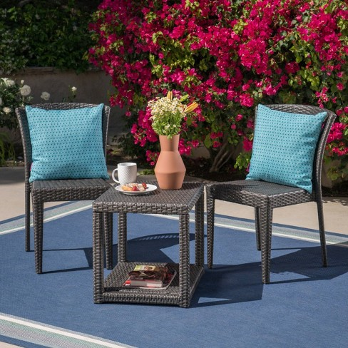Avery 3 pc Wicker Chat Set - Christopher Knight Home - image 1 of 4