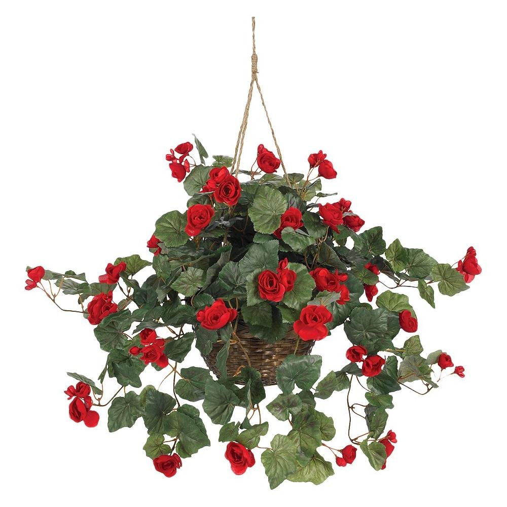 Nearly Natural Begonia Hanging Basket Buy