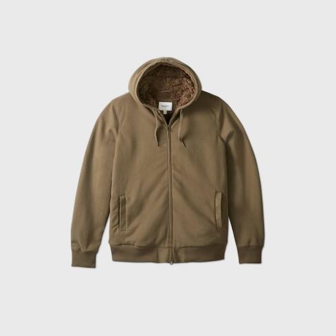 Men's Big & Tall Full-Zip Sherpa Lined Hooded Fleece Jacket - Goodfellow & Co™ - image 1 of 2