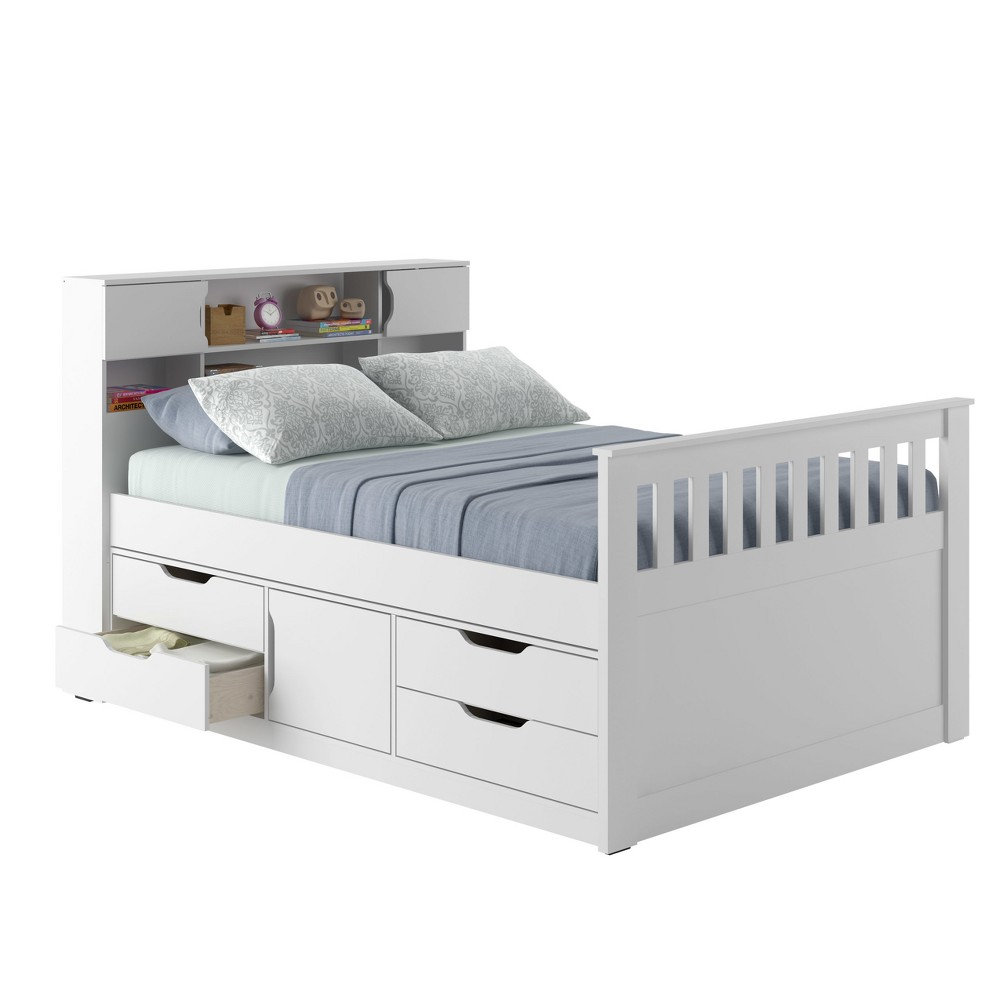 Full Kids Bed With Storage White - CorLiving, Brown