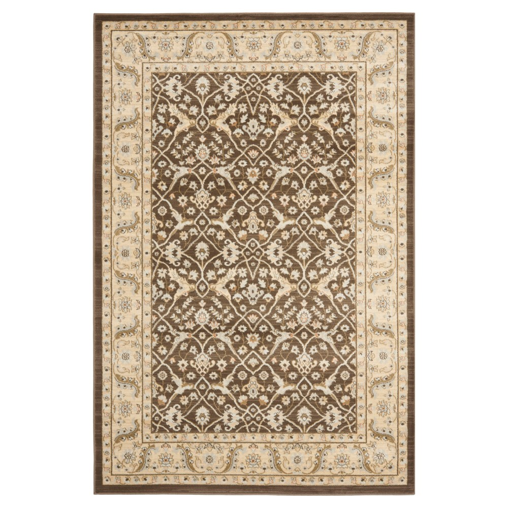 Delphine Area Rug - Brown/Ivory (5'1