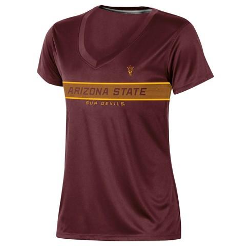 Arizona State Sun Devils Women's Short Sleeve V-Neck Performance T-Shirt - image 1 of 2