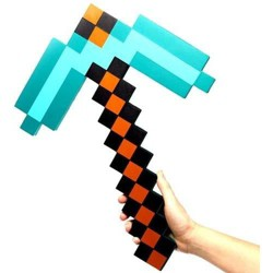 ThinkGeek, Inc. Minecraft Diamond Foam Pickaxe Exclusive