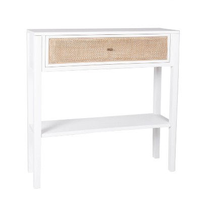 Sydney Side Table White/Tan - East at Main