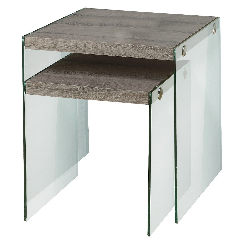 Set of 2 Nesting Tables Deep Taupe - EveryRoom Discounts