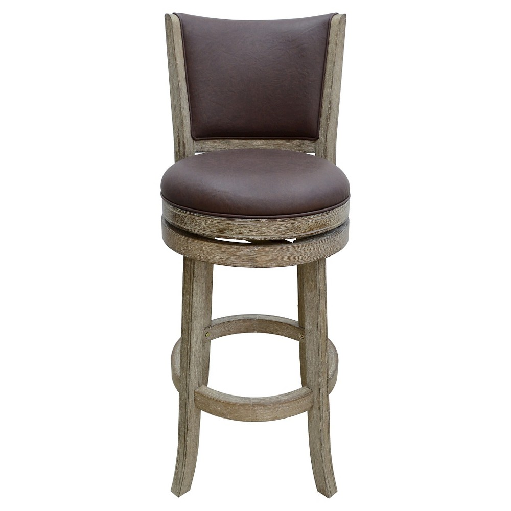 Toledo Swivel 29 Barstool Hardwood/Light Brown - Boraam