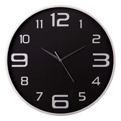 18  Wall Clock Silver - Patton Wall Decor