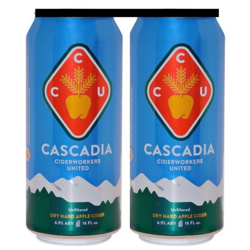 Cascadia Ciderworkers United® Dry Cider - 4pk / 16oz Cans - image 1 of 1