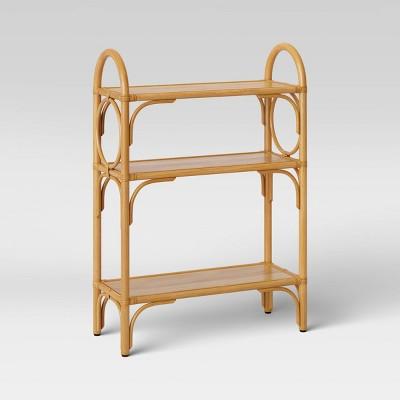 Rattan Free Standing Shelf Tan - Opalhouse™