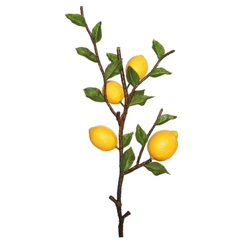 Artificial Lemon Spray 20 Green Yellow Vickerman