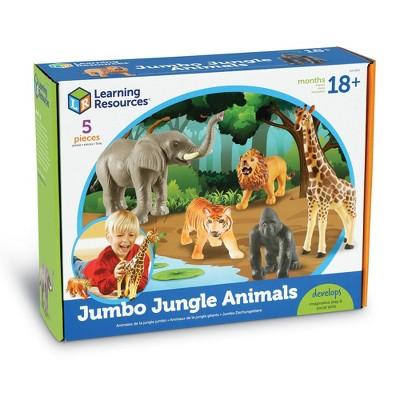 Learning Resources Jumbo Jungle Animals - 5pc