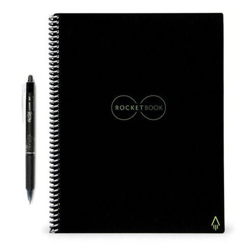 Rocketbook Everlast Smart Notebook Executive Spiral 1 Subject Black - image 1 of 2