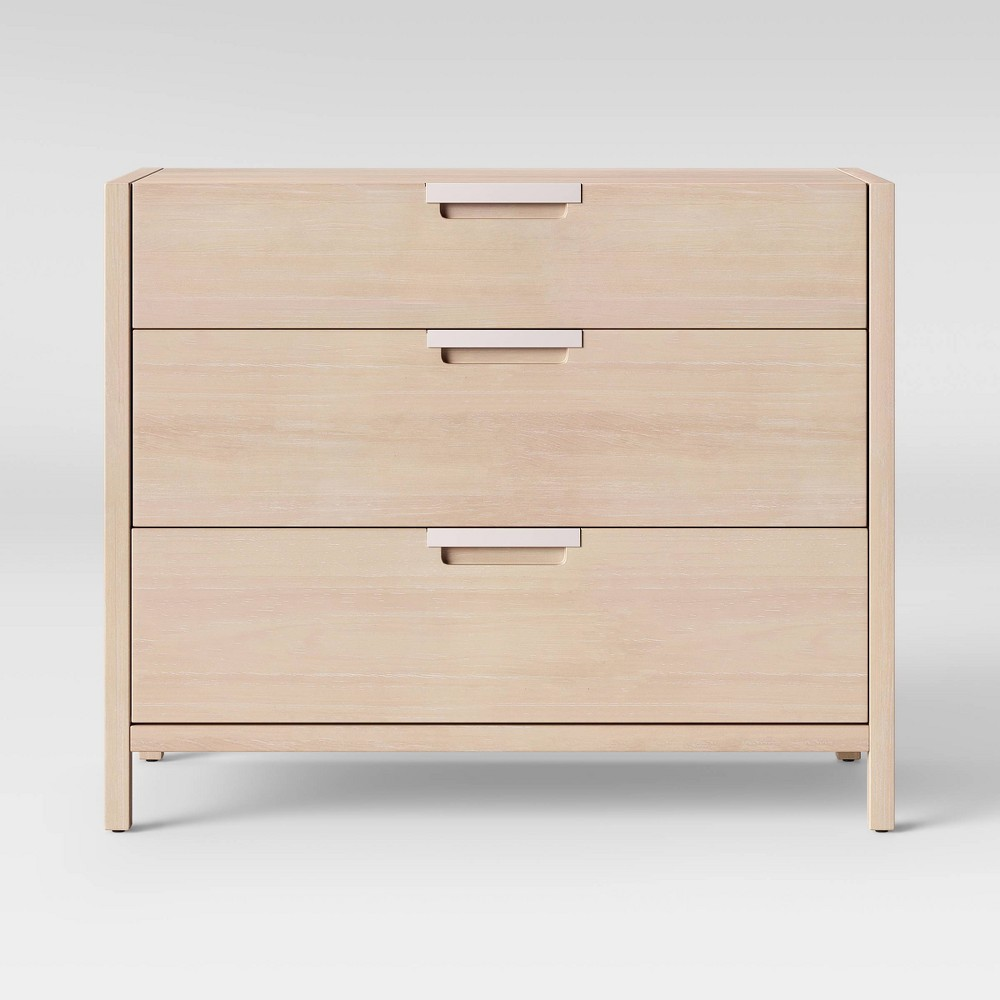Porto 3 Drawer Dresser Bleached Wood - Project 62