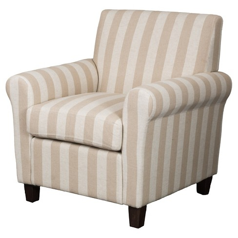 Brunswick Striped Club Chair Beige - Christopher Knight Home - image 1 of 4