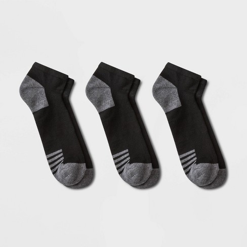 Men's 3pk Low Cut Athletic Socks - Goodfellow & Co™ Black 10-13 - image 1 of 2