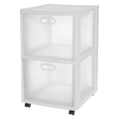 Sterilite® Ultra™ 2-Drawer Storage Cart White