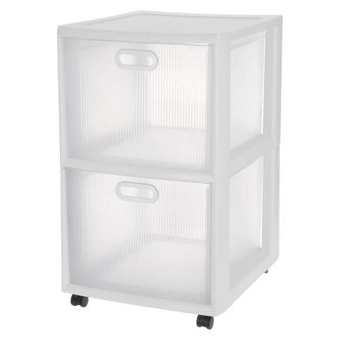 Fabulous Sterilite Ultra 2 Drawer Storage Cart White Home Interior And Landscaping Pimpapssignezvosmurscom