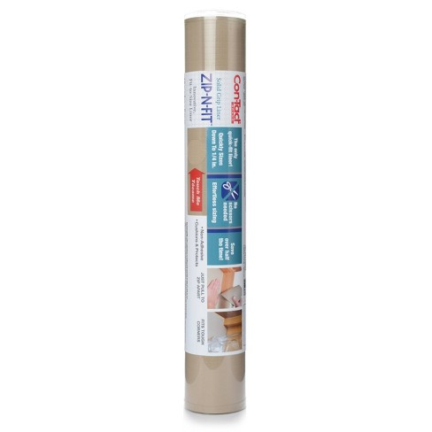 """Con-Tact 18""""x4' Zip-N-Fit Premium Non-Adhesive Ribbed Shelf Liner Taupe - image 1 of 4"""