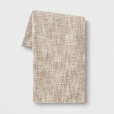 Basketweave Chenille Throw Blanket Neutral - Threshold™