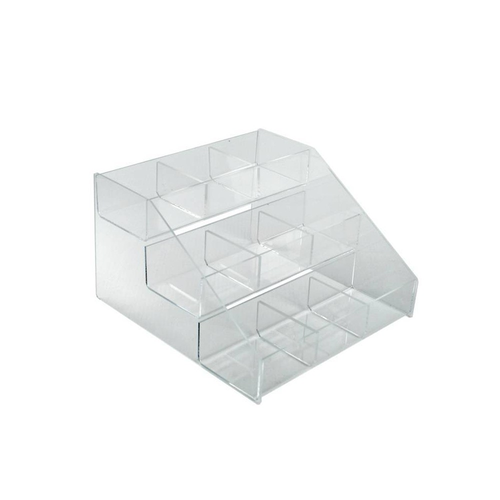 Azar Displays 12 X 11 75 X 7 125 Three Tier Counter 9 Compartment Counter Step Display