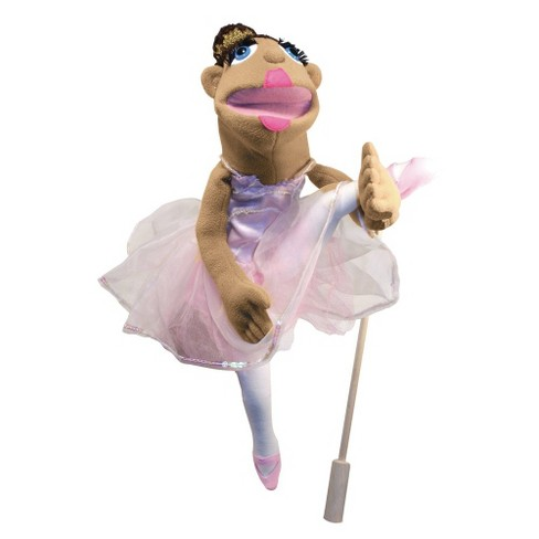 Melissa & Doug® Ballerina Puppet - Full-Body With Detachable Wooden Rod for Animated Gestures - image 1 of 3