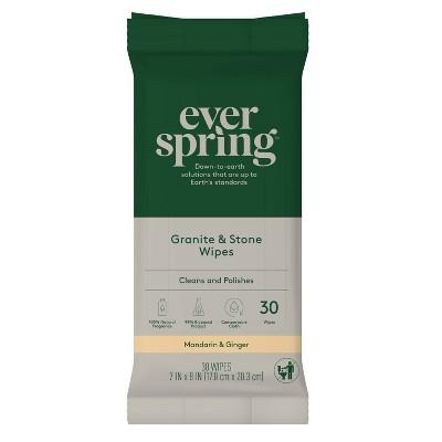 Granite & Stone Wipes Mandarin & Ginger - 30ct - Everspring™