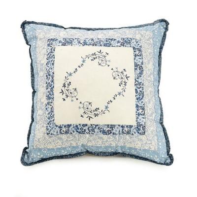 "16""x16"" Charlotte Square Throw Pillow - Modern Heirloom"