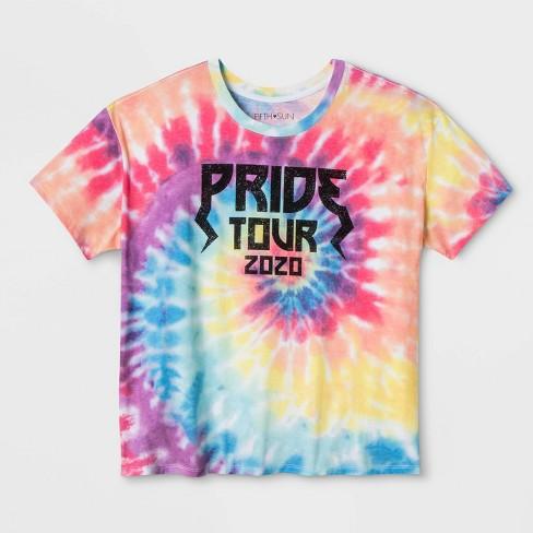 Pride Gender Inclusive Juniors' Tie-Dye Rainbow Graphic T-Shirt - image 1 of 1