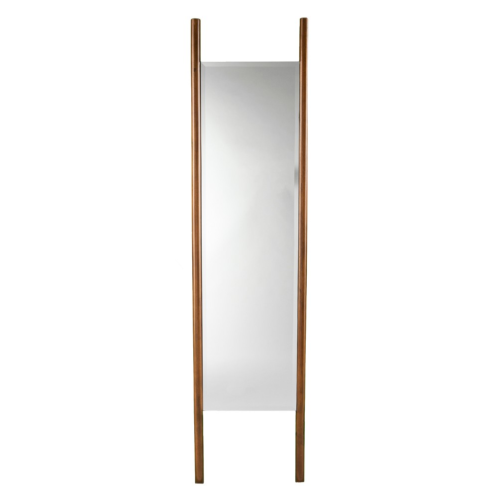 "Image of ""Holly & Martin 70""""x17"""" Swain Leaning Floor Mirror Dark Tobacco (Black)"""