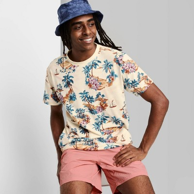 Men's Rolled Collar Knit T-Shirt - Original Use™ Beige