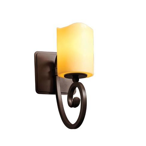 Justice Design Group CNDL-8571-14-AMBR CandleAria 1 Light Bathroom Sconce - image 1 of 1
