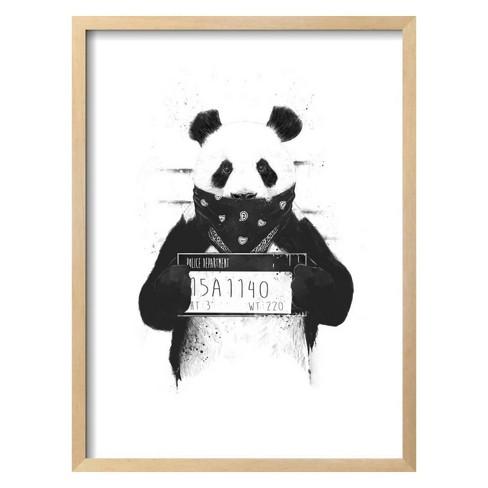 Bad Panda By Balazs Solti Framed Wall Art Poster Print 19\