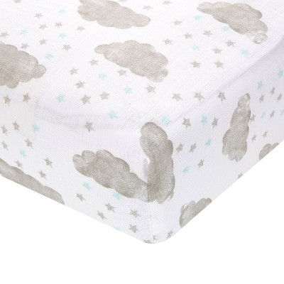 Aden + Anais Essentials Classic Crib Sheet Partly Sunny