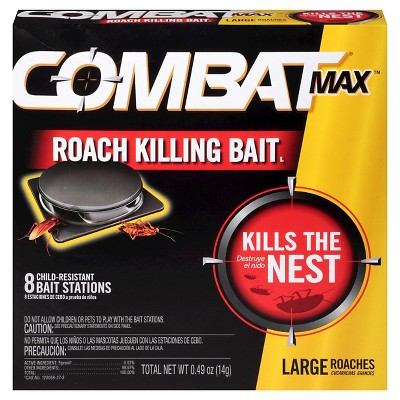 Combat Source Kill Max Large Cockroach Bait Stations - 8 ct