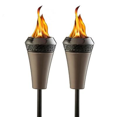 66  Island King Large Flame Torch - Gunmetal Finish 2 Pk - TIKI®
