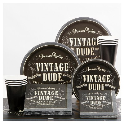 Vintage Dude Party Supplies Collection Target