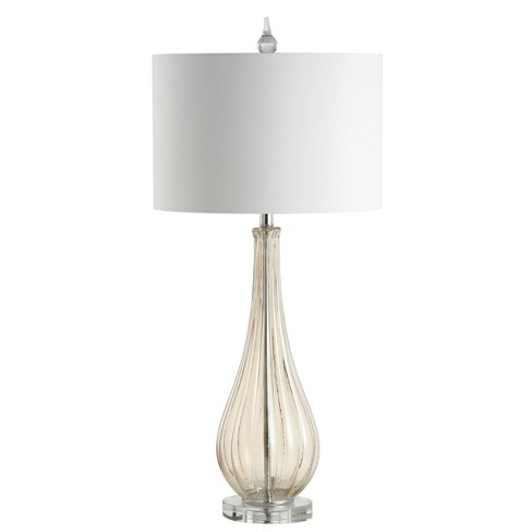 "32.75"" Dew Drop Glass/Crystal LED Table Lamp Champagne (Includes Energy Efficient Light Bulb) - JONATHAN Y - image 1 of 4"