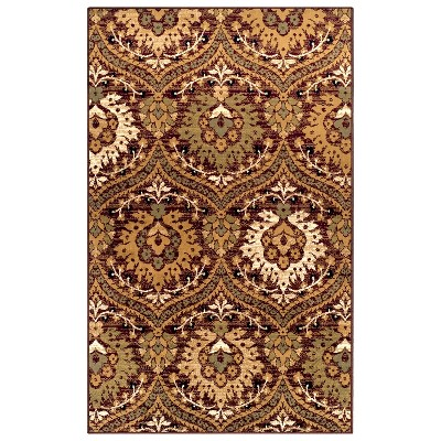 Contemporary Floral Indoor Area Rug or Runner - Blue Nile Mills