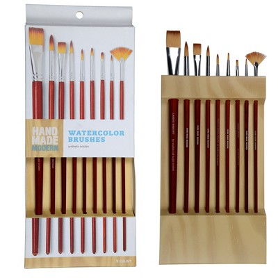 9ct Watercolor Paint Brushes - Hand Made Modern®