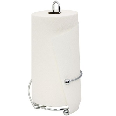 Home Basics Wire Collection Chrome Plated Steel Paper Towel Holder, Chrome
