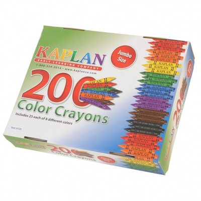 Kaplan Early Learning Jumbo Crayons Class Pack  - 200 Per Box