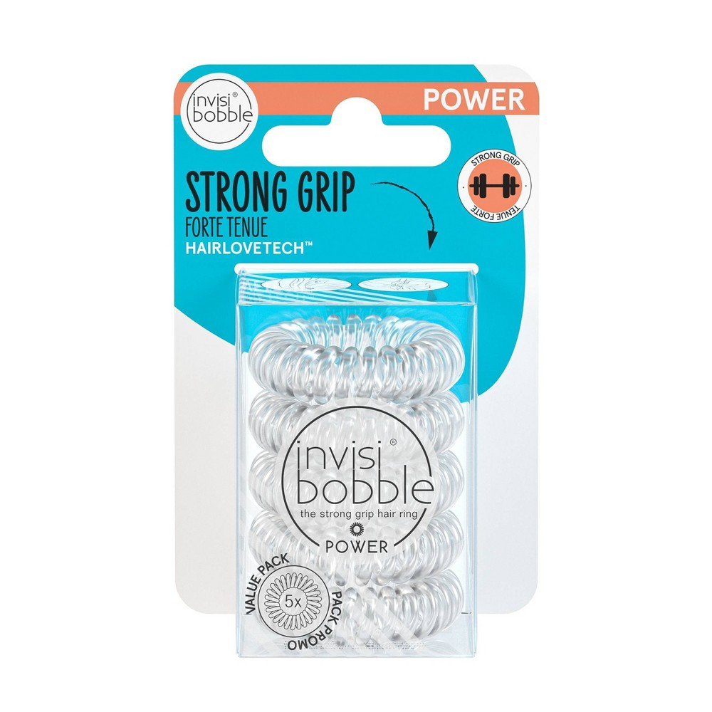 Invisibobble Power Multipack Crystal Clear 5pk