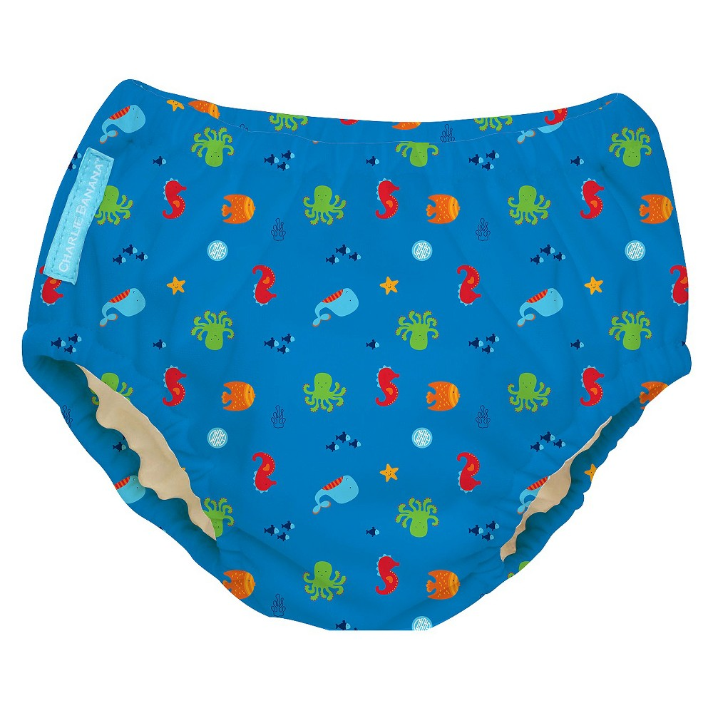 Charlie Banana Reusable Swim Diaper - Size X-Large, Under the Sea