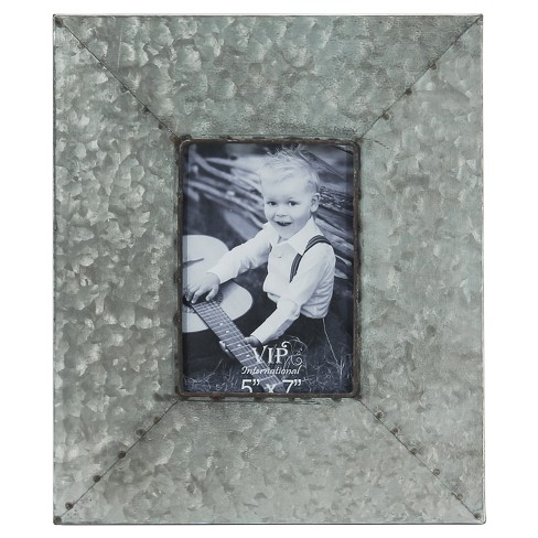 """Metal Picture Frame Silver (5""""x7"""") - VIP Home & Garden - image 1 of 3"""