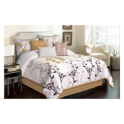 7pc Queen Garnier Comforter Set Tan & Ivory - Riverbrook Home