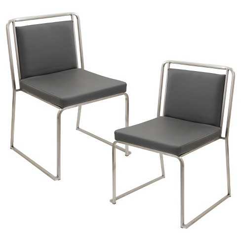 Cascade Contemparary Stainless Steel Dining Chairs (Set of 2) - LumiSource - image 1 of 8